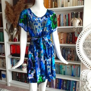 NY COLLECTION colorful spandex blend dress